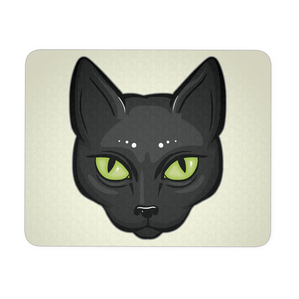 Black Cat Face Mouse Pad, Gifts for Cat Lovers