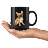 French Bulldog Black Coffee Mugs, Funny Gift for Cute Dog Lovers