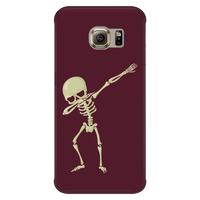 Halloween Skeleton Dabbing Phone Case for Samsung, Gifts for Trick Treat Skull Party