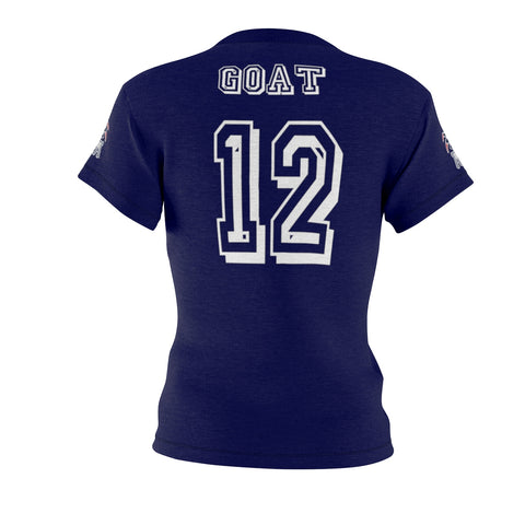 "The GOAT TB ""GOAT"" Brady Babes Performance Poly Jersey Tee"