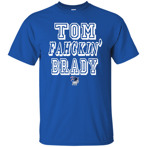 Tom Fahckin' Brady Mens Blue T Shirt
