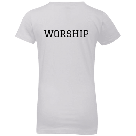 Tom Brady Girls White Worship T Shirt
