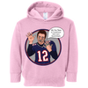 Image of Tom Brady Toddlers Pink Oops Hoodie