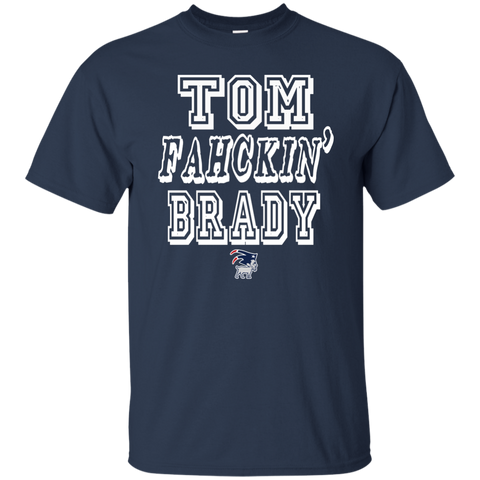 Tom Fahckin' Brady Mens Navy T Shirt