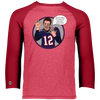 Image of Tom Brady Oops Baseball Style 3/4 Performance Poly Shirt