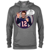 Image of Tom Brady Grey Oops Cotton/Poly Blend Hoodie