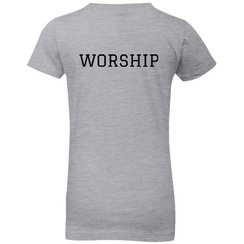 Tom Brady Girls Grey Worship T Shirt