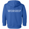 Image of Tom Brady Toddlers Blue Worship Hoodie