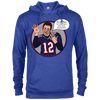Image of Tom Brady Blue Oops Cotton/Poly Blend Hoodie