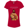 Image of Tom Brady Girls Red Worship V Neck T Shirt