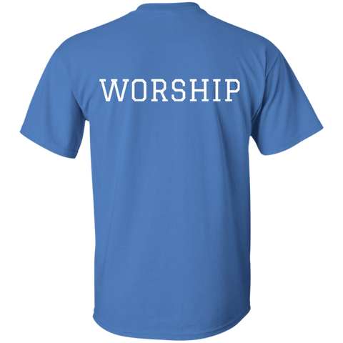 Tom Brady Blue Worship T shirt Back