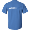 Image of Tom Brady Blue Worship T shirt Back