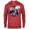 Image of Tom Brady Red Oops Cotton/Poly Blend Hoodie