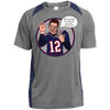Image of Tom Brady Mens Oops Blue Polyester Performance T Shirt