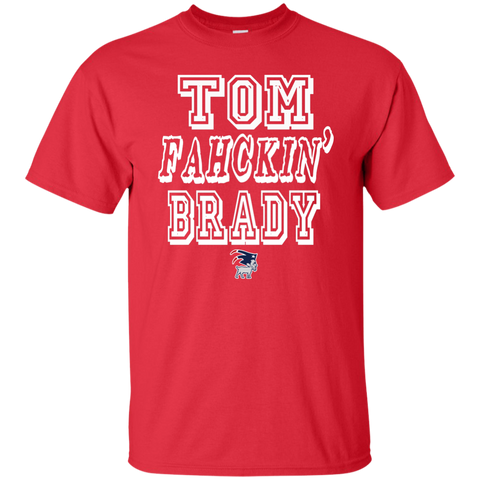 Tom Fahckin' Brady Mens Red T Shirt