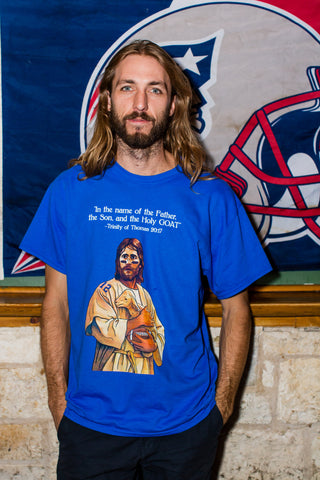 Tom Brady Blue Worship Tee