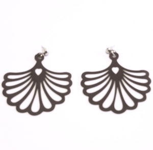Fan Rubber Earrings