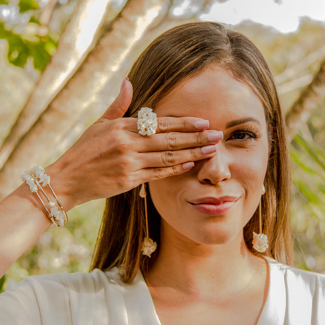 Pearls Bunch Ring - Gold Plated