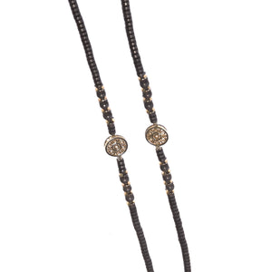 Brown Hematite Necklace - Gold Plated