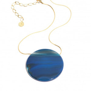 Agate Disc Necklace