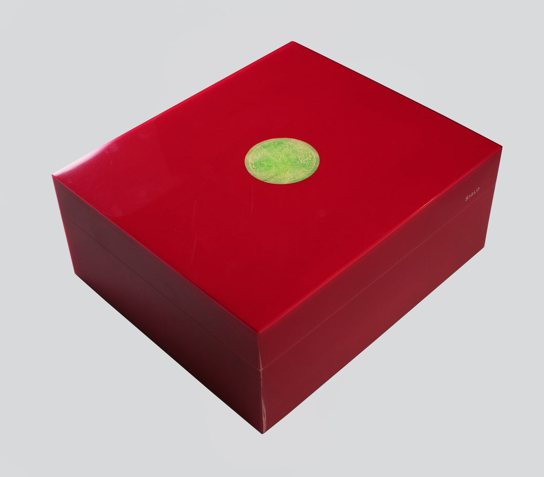 Siglo Cigar Humidor Red With Jade