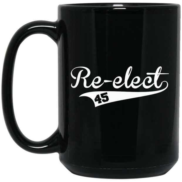 Trump ReElect Black Mug