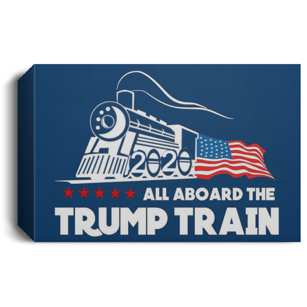 Trump Train Deluxe Landscape Canvas 1.5in Frame
