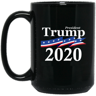 Trump 2020 15 oz. Black Mug