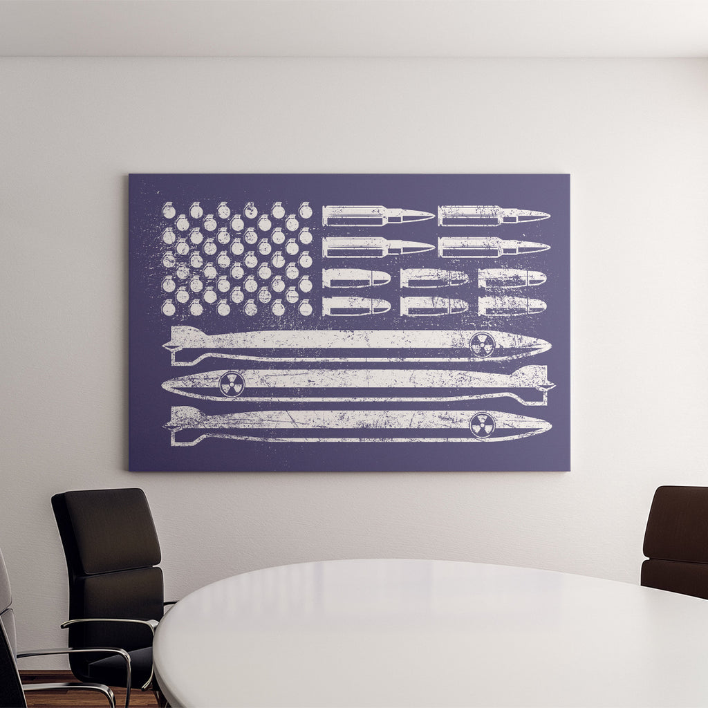 American Flag Deluxe Landscape Canvas 1.5in Frame