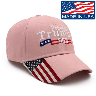 President Trump 2020 Pink USA Flag Hat