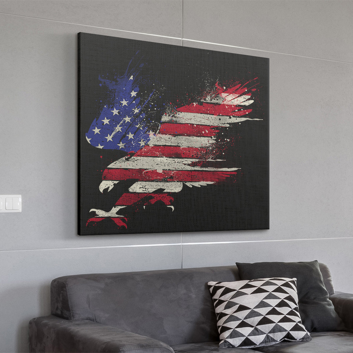 American Eagle Deluxe Square Canvas 1.5in Frame