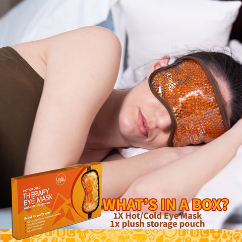 Moist heat Eye mask to treat dry eyes