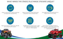 Potty Training Seat Magic Sticker | Monster Truck Color Changing Sticker - Pack of 5
