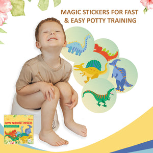 Magic Potty Training Stickers | Dinosaur Design I Pack of 5