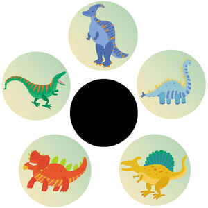 Magic Potty Stickers | Dinosaur Design I Pack of 5