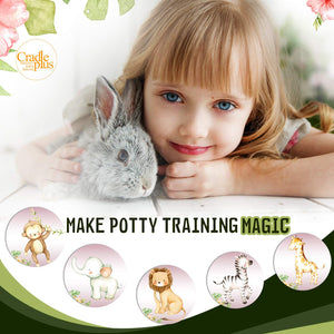 Magic Potty Stickers | Jungle Animal