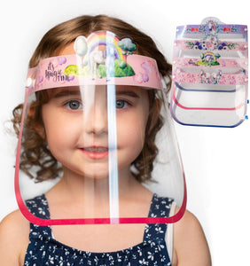 Kids Face Shield Unicorn Design Anti-Fog Face Shields for Kids