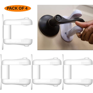 Baby Proofing Door Lever Locks Upgraded Design - Pack of 4