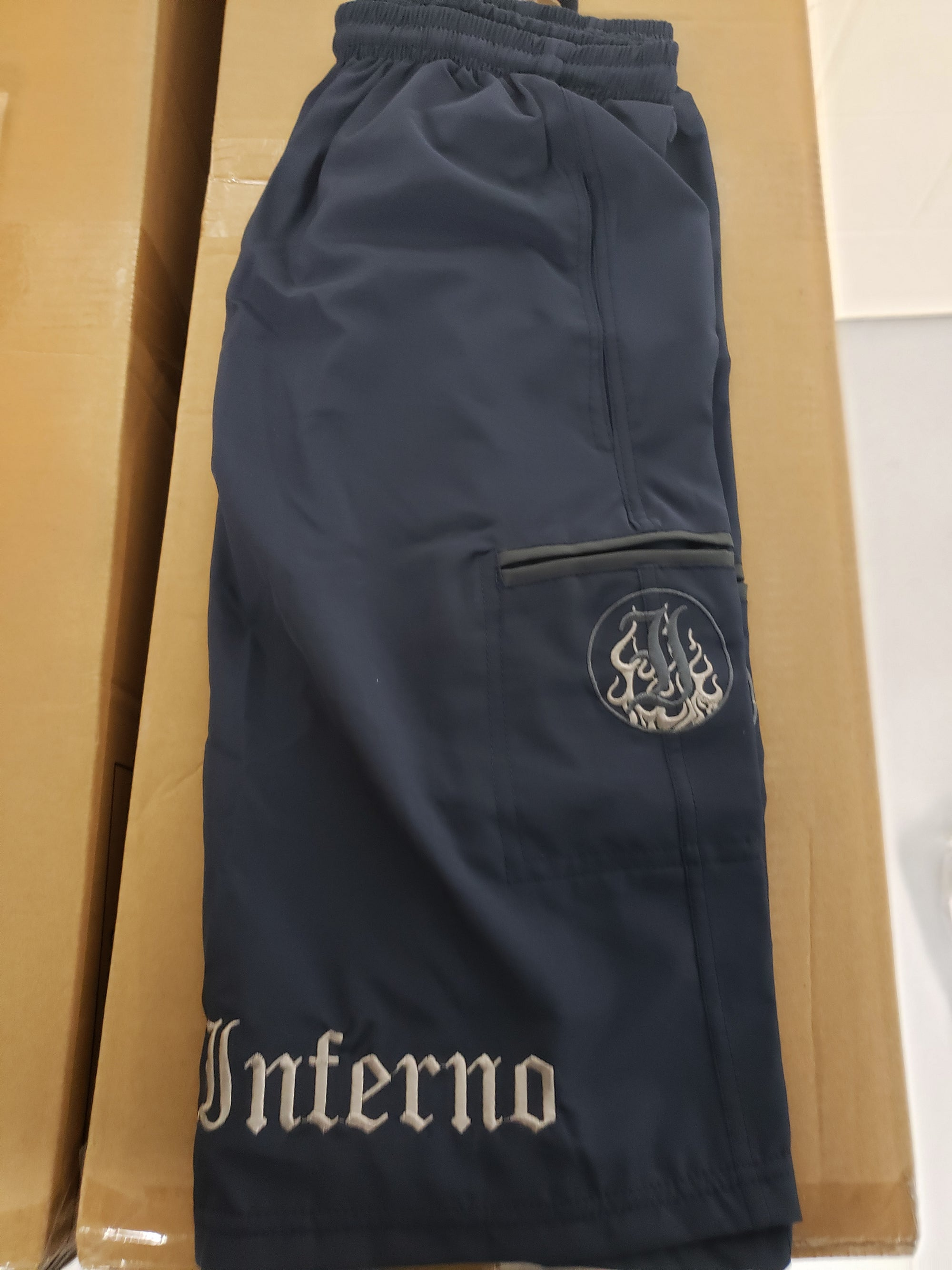 Inferno 4-Way Navy Microfiber Shorts