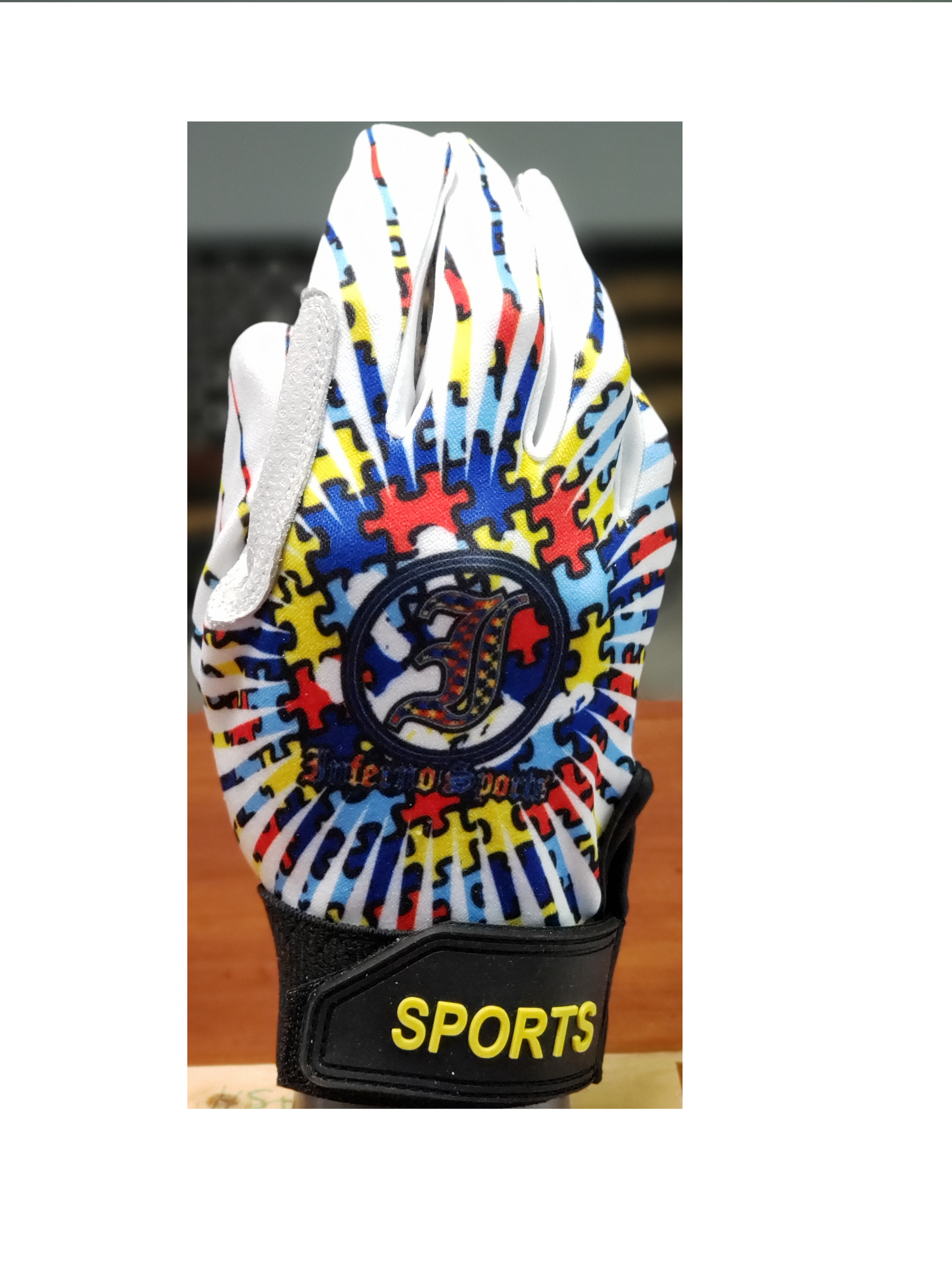 Inferno Sports Game Day Batting Gloves 2.0 - Autism Burst