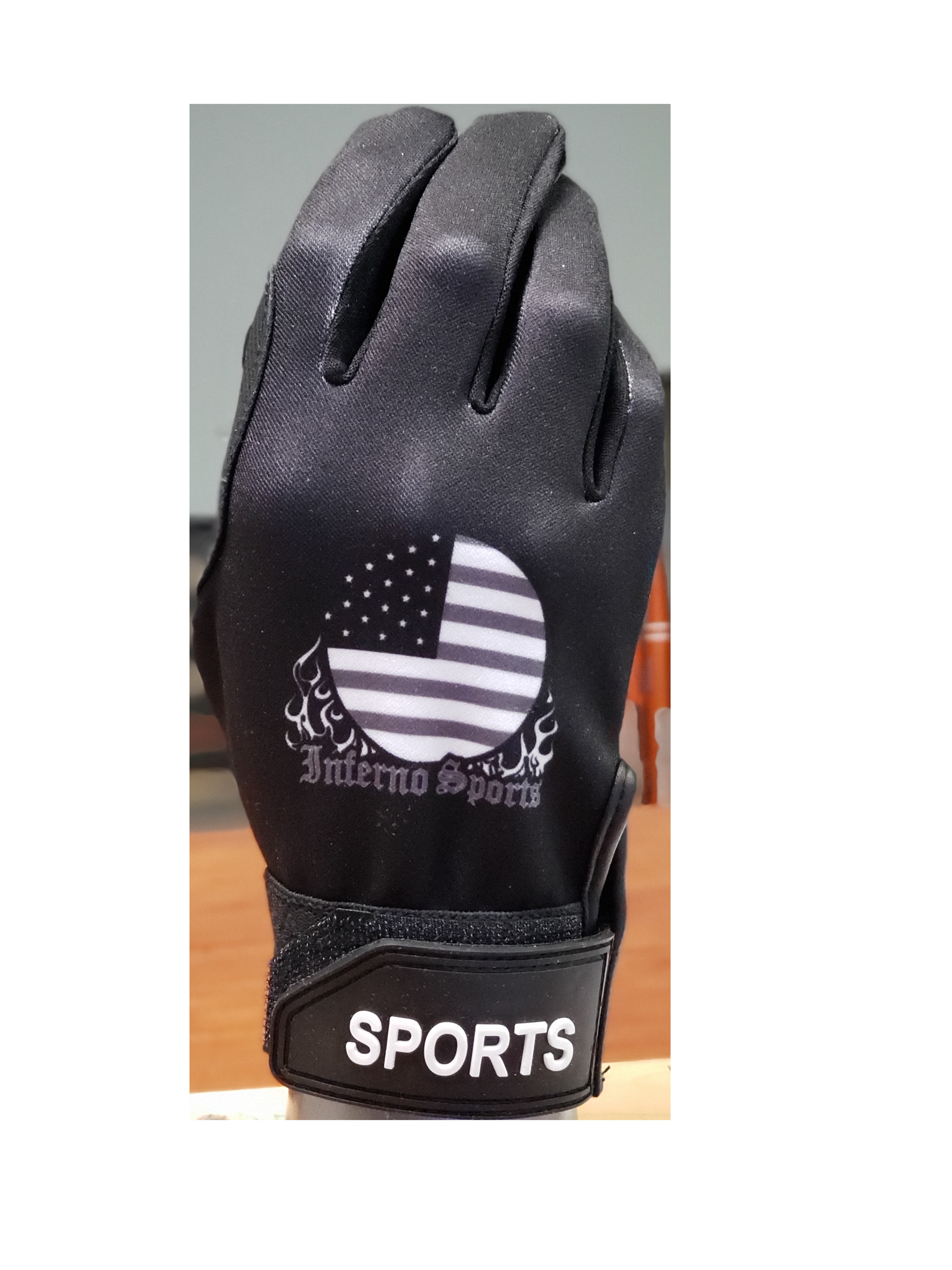 Inferno Sports Game Day Batting Gloves 2.0 - Blackout Flag