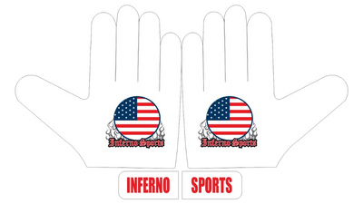 Inferno Sports Game Day Batting Gloves 2.0 - White Flag