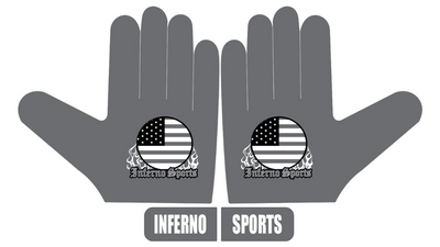 Inferno Sports Game Day Batting Gloves 2.0 - Graphite Flag