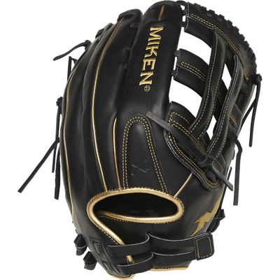 Miken Black Gold PRO Series 14″ Slowpitch Fielding Glove – PRO140-BG