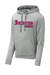 Inferno Sports Heather Fleece Hooded Pullover - Pink/Black
