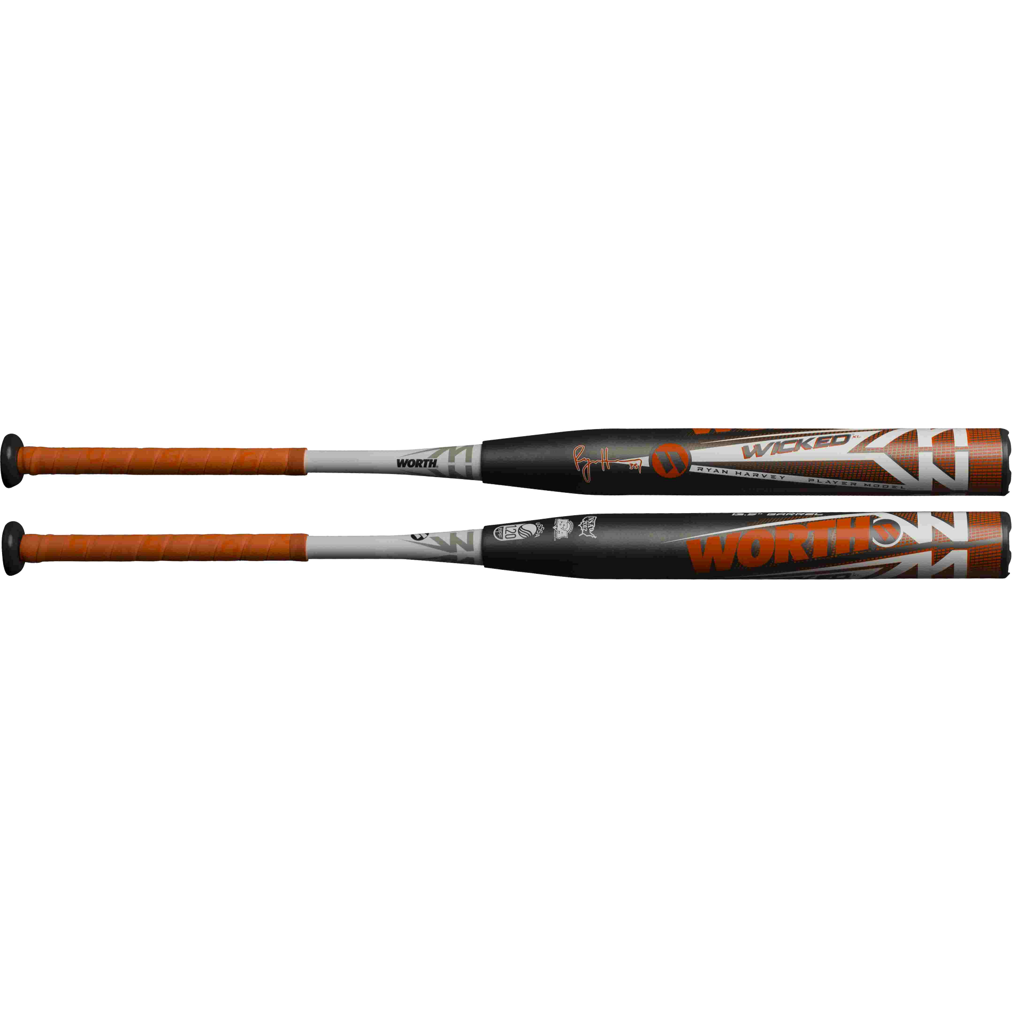 2019 Worth Wicked Harvey XL 13.5″ 2PC USSSA Slowpitch Softball Bat WKRHMU