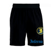 Inferno 4-Way Black Microfiber Shorts