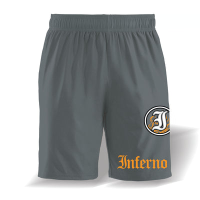 Inferno 4-Way Charcoal Microfiber Shorts
