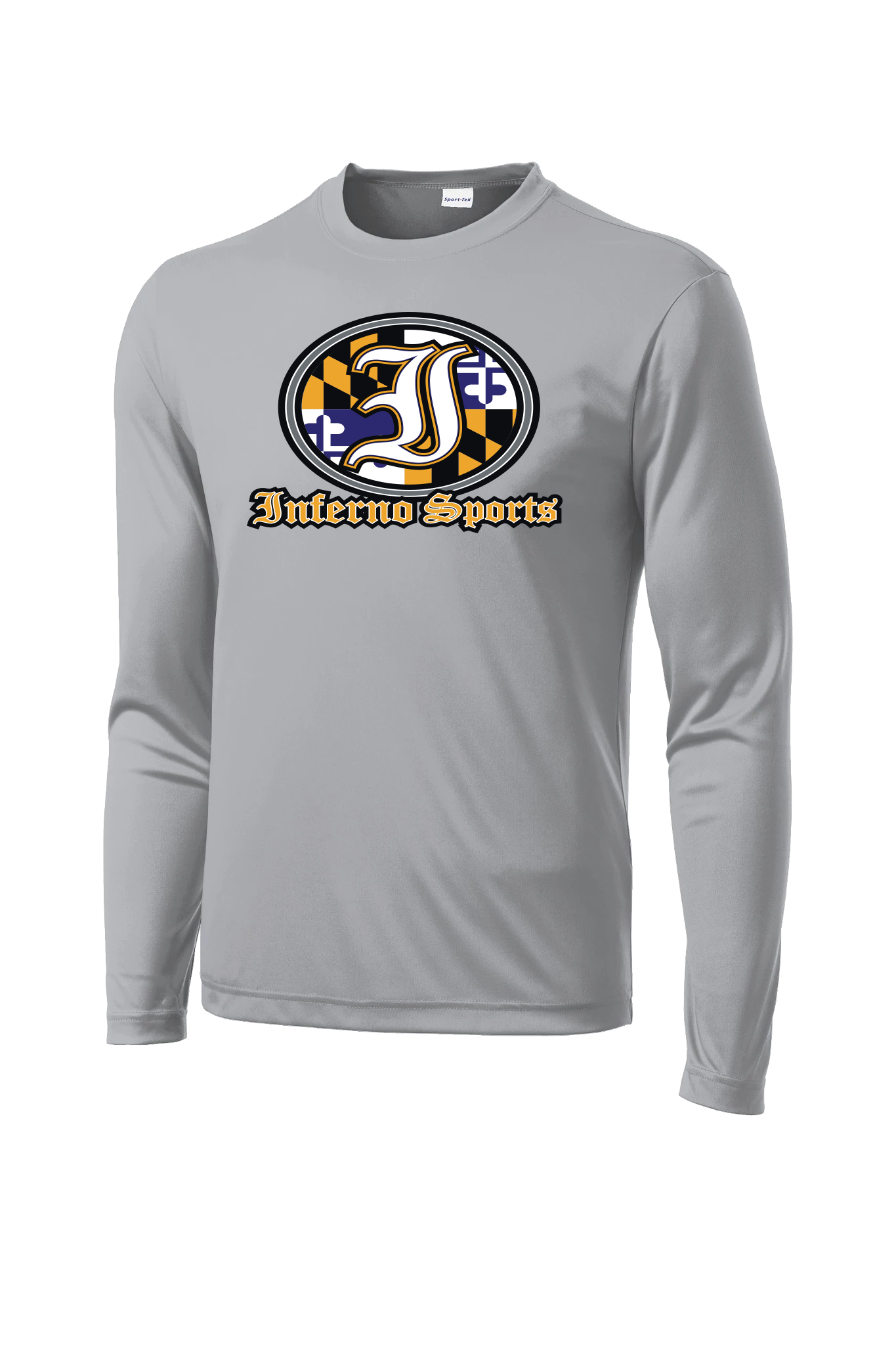 Inferno Sports MD Raven Flag Long Sleeve Grey
