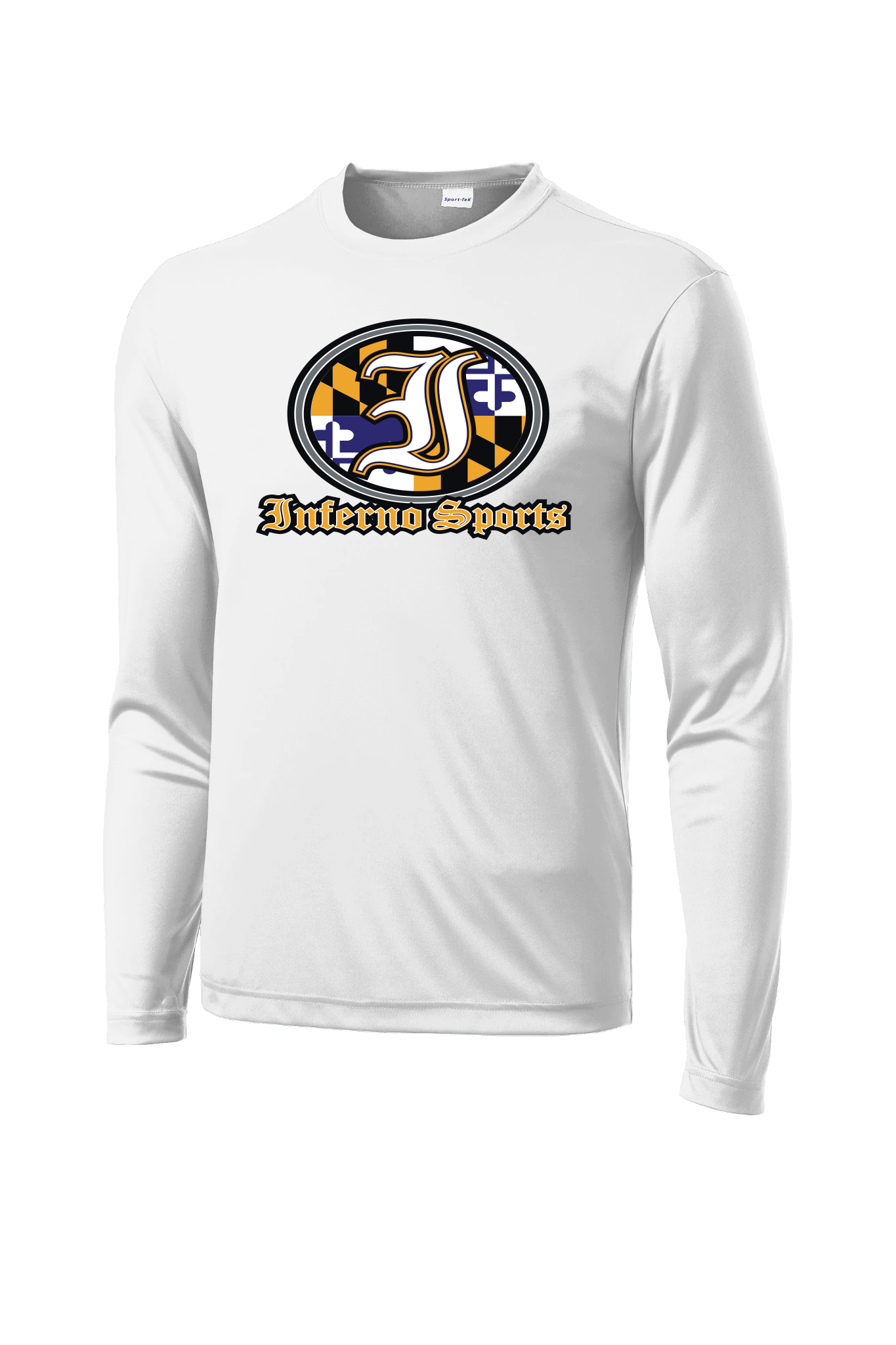 Inferno Sports MD Raven Flag Long Sleeve White